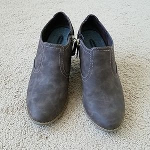 Dr. Scholl's Taupe Memory Foam Booties